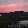 another red sunset curacao after volcano eruption ecuador