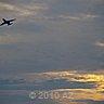 plane flees the sun