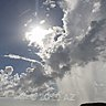 esteaming clouds boiled by sun