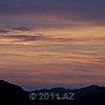 after sunset landscape